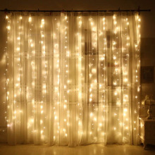 SVELTA 3X2M Garland Jul LED Gardin Fairy Light Gerlyanda För Decor String Lights Xmas Holiday Bröllopsfest Dekoration