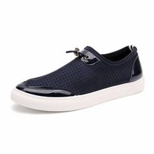 New Summer Men Fashion Leisure Shoes Breathable Stretch Fabric Slip On Style Flat With Rubber Sole Male Casual Shoes