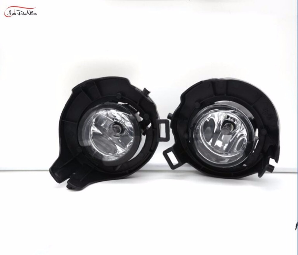 JanDeNing Car Fog Lights for Nissan Xterra 2004~2009 Clear Halogen bulb:H11-12V 55W Front Fog Lights Bumper Lamps Kit fog light set 12v 55w car fog lights lamp for toyota hiace 2014 on clear lens wiring kit free shipping