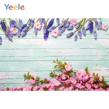Yeele Violet Bouquet White Wood Board Texture Planks Goods Show Photography Backgrounds Photographic Backdrops For Photo Studio