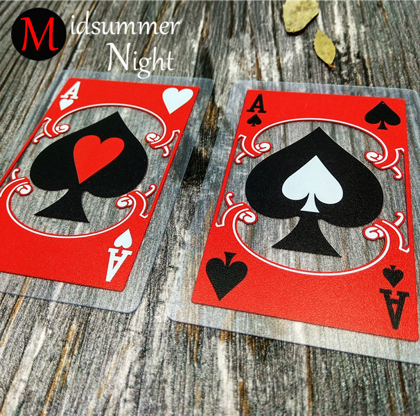 Jogando cartas de poker 100% plástico PVC transparente estilo Chinês Ópera de Pequim de poker cartões de poker definir venda limitada