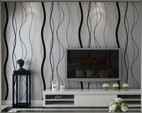 Modern 3 D Wallpaper Non Woven Wallpaper Water Ripple Curve Stripes TV Setting Wall Paper Wallpaper