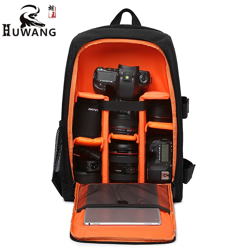 Waterproof Photographer Multi-functional Digital DSLR Camera Video Bag W/ Rain Cover Camera Bag PE Padded Lens Coat for Sony SLR