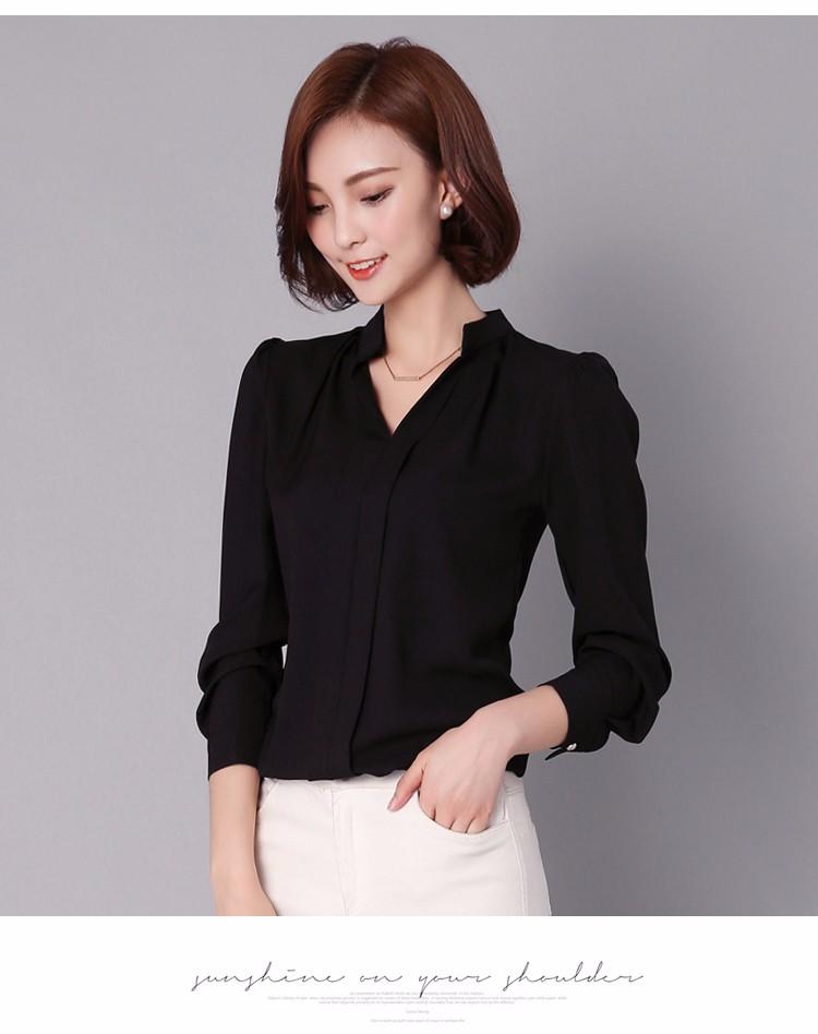 HTB1mtpULpXXXXXPaXXXq6xXFXXXt - Long Sleeve Elegant Ladies Office Shirts Fashion Casual Slim Women