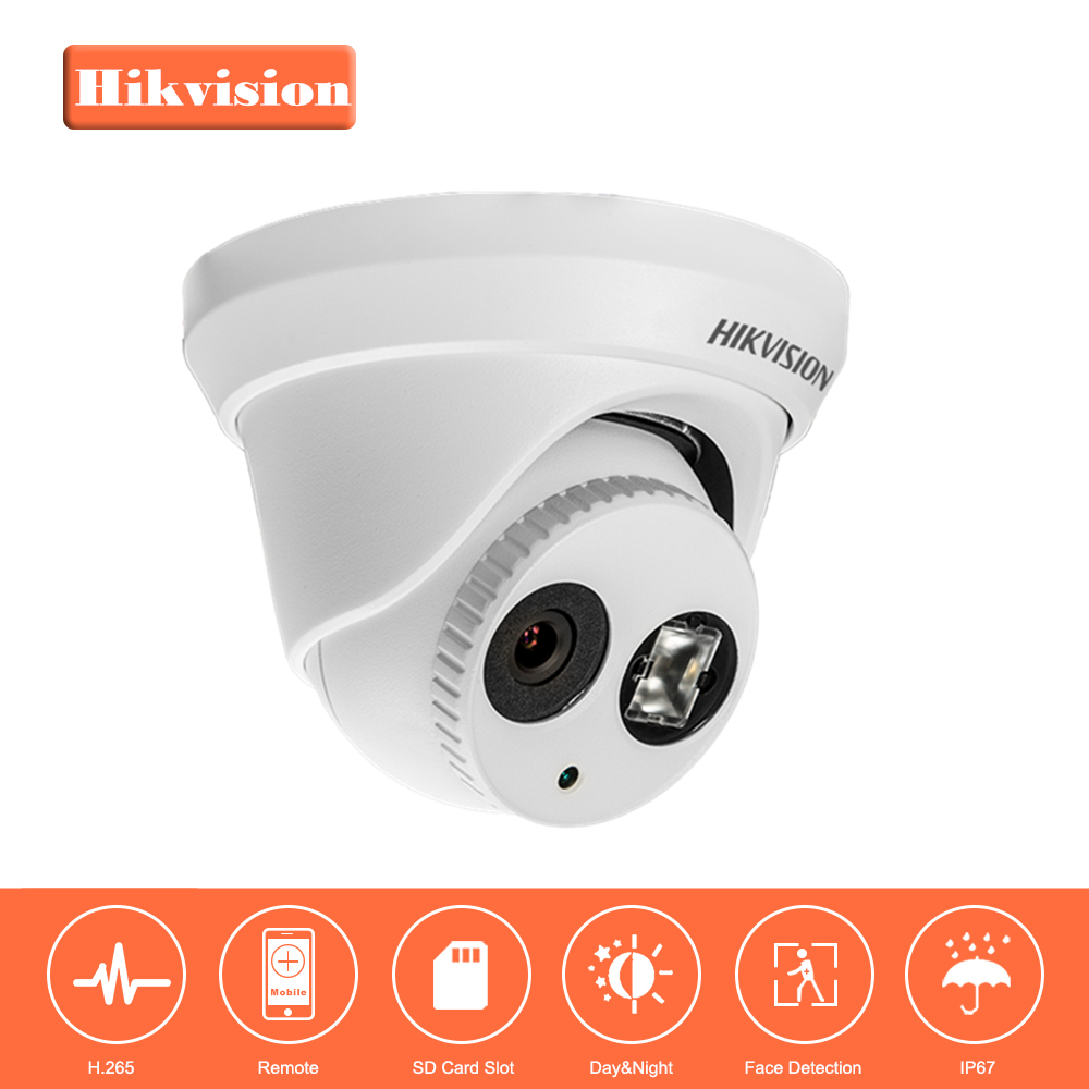 Hikvision Turret CCTV IP Camera DS-2CD2143G0-I 4MP CMOS IR Fixed Network Security Night Version Camera with SD Card Slot hik ds 2ce56d1t it3 hd720p exir turret camera 2 megapixel cmos ip66 weatherproof turret camera with 40m ir home security camera
