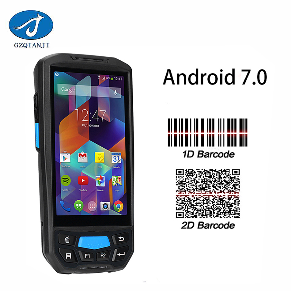 GZPDA02 Android Mobile data collector pda terminal 1D barcode reader wifi bluetooth for  ...