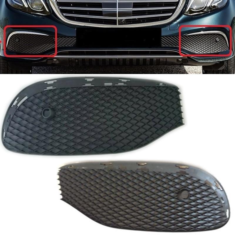 Pair Front Bumper Fog Lamp Foglight Area Grille Cover Trim 2138851122 2138850822 For Mercedes-benz E-CLASS W213 2016-19 Saloon