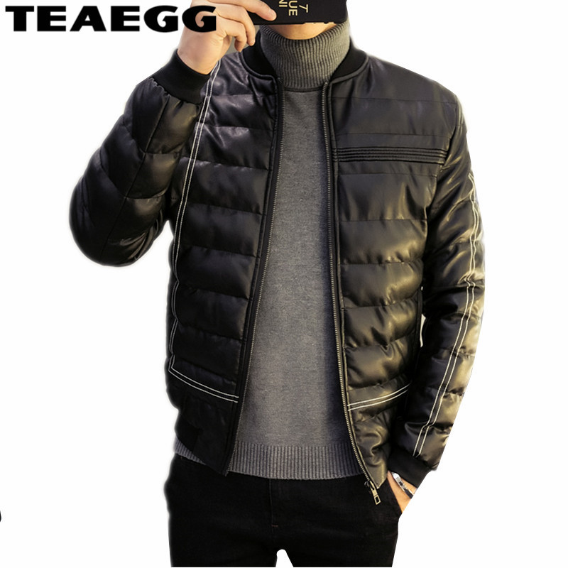 TEAEGG Casual Black Cotton Men Winter Jacket 2019 Blouson Hiver Homme Mens Winter Jackets   Parkas   Para Homens Plus Size 5XL AL253