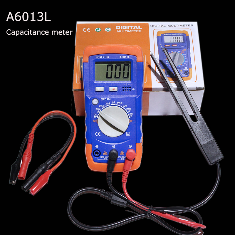 A6013L Hight quality Digital capacitance capacitor tester test tools hot sale digital multimeter hot sale 1pcs digital multimeter ua7906