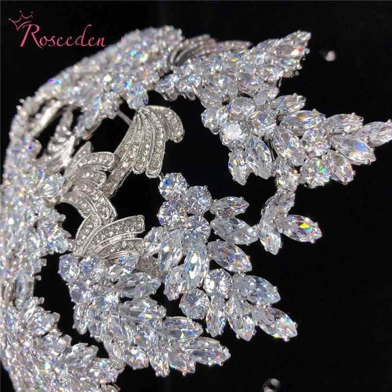 Nova elegantna razkošna poročna nevesta krona za ženske - Modni nakit - Fotografija 2
