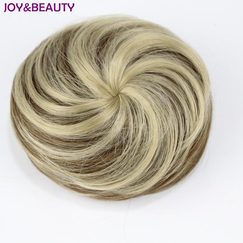JOY7BEAUTY 20 Colors Synthetic High Temperature Fiber Curly Hair Chignon Clip In Hair Bun Donut Roller