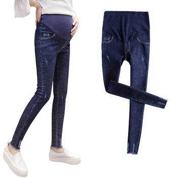 Pregnant women jeans shoes pregnancy elastic waistband trousers worn out ropa embarazada maternity jeans maternity clothes maternity dress funny pregnancy clothes 2016 vestido embarazada verano ropa premama camisa robe femme enceinte hamile giyim c548