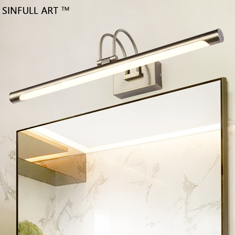 Modern Mirror Front Led Lamp Bathroom Wall Light European Bedroom Mirror Cabinet Sconce Indoor Home Mounted Lighting Fixtures modern 6w 24cm long linear aluminum lampshade led bathroom mirror light home decorative lamp illumination furniture wall mounted