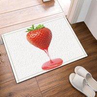 Stawberry Jelly Bath Rugs Bathroom Entryways Outdoor Indoor Front Door Mat 60x40cm