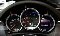 Interior For Porsche Macan 2014 2015 Cayenne 2015 Panamera 2015 ABS Dashboard Instrument Panel Decorative Cover