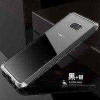 Original Luphie Brand Luxury Aluminum Metal Bumper Transparent Gorilla Back Cover For Samsung Galaxy S8 S8Plus
