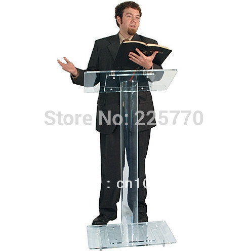 Acrylic Lectern / Perspex Pulpit / Lectern For Classroom / Plexiglass Church Lectern(China)