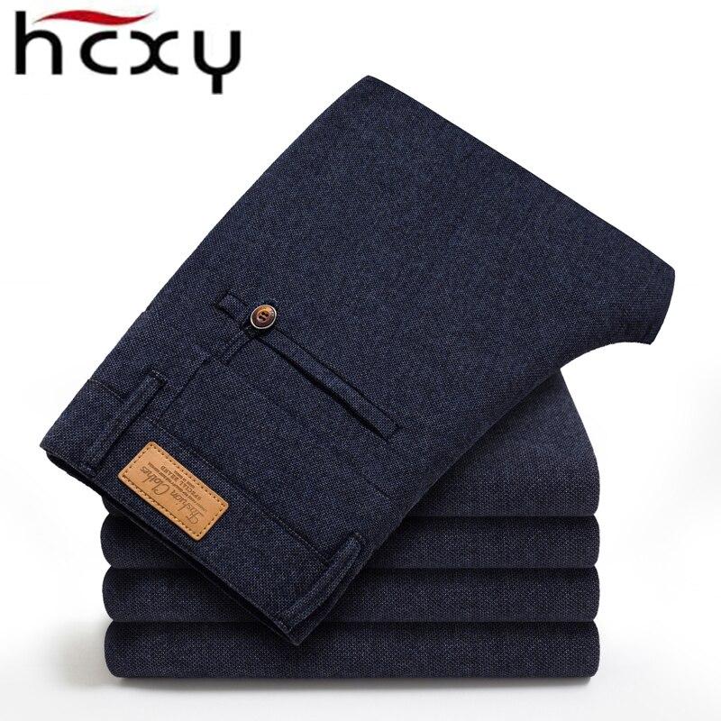 Image 2 - Бренд HCYX, 2019, четыре сезона, классические, высокое качество, мужские повседневные штаны, брюки, мужские, повседневные штаны, Бизнес Стиль, прямые, размер 38-in Повседневные брюки from Мужская одежда