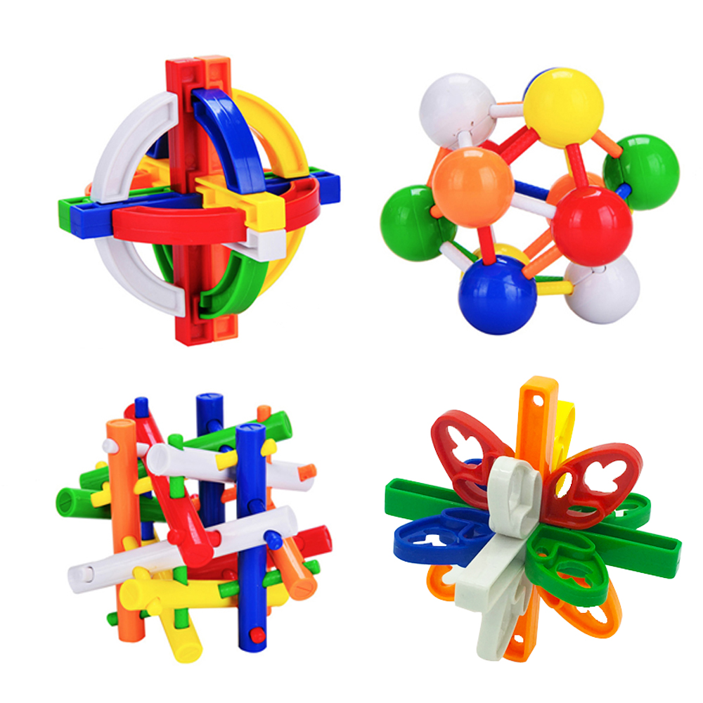 2018 New Educational Adults Kids Toy Excellent Design IQ Brain Teaser 3D Plastic Interlocking Kong Ming Luban Lock Puzzle Game