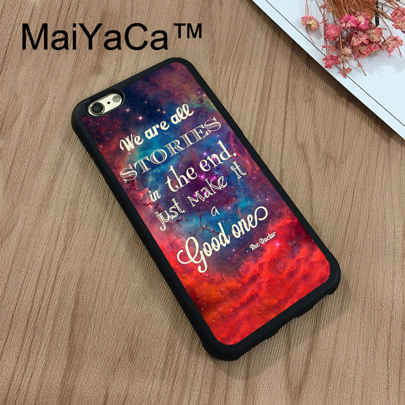 MaiYaCa Doctor who quote Phone Cases For Apple iPhone 8 Coque Case Rubber Soft TPU Drawing Phone Case Back Cover