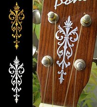 Headstock Inlay Stickers Decals – Small Torch, Gold or White Color