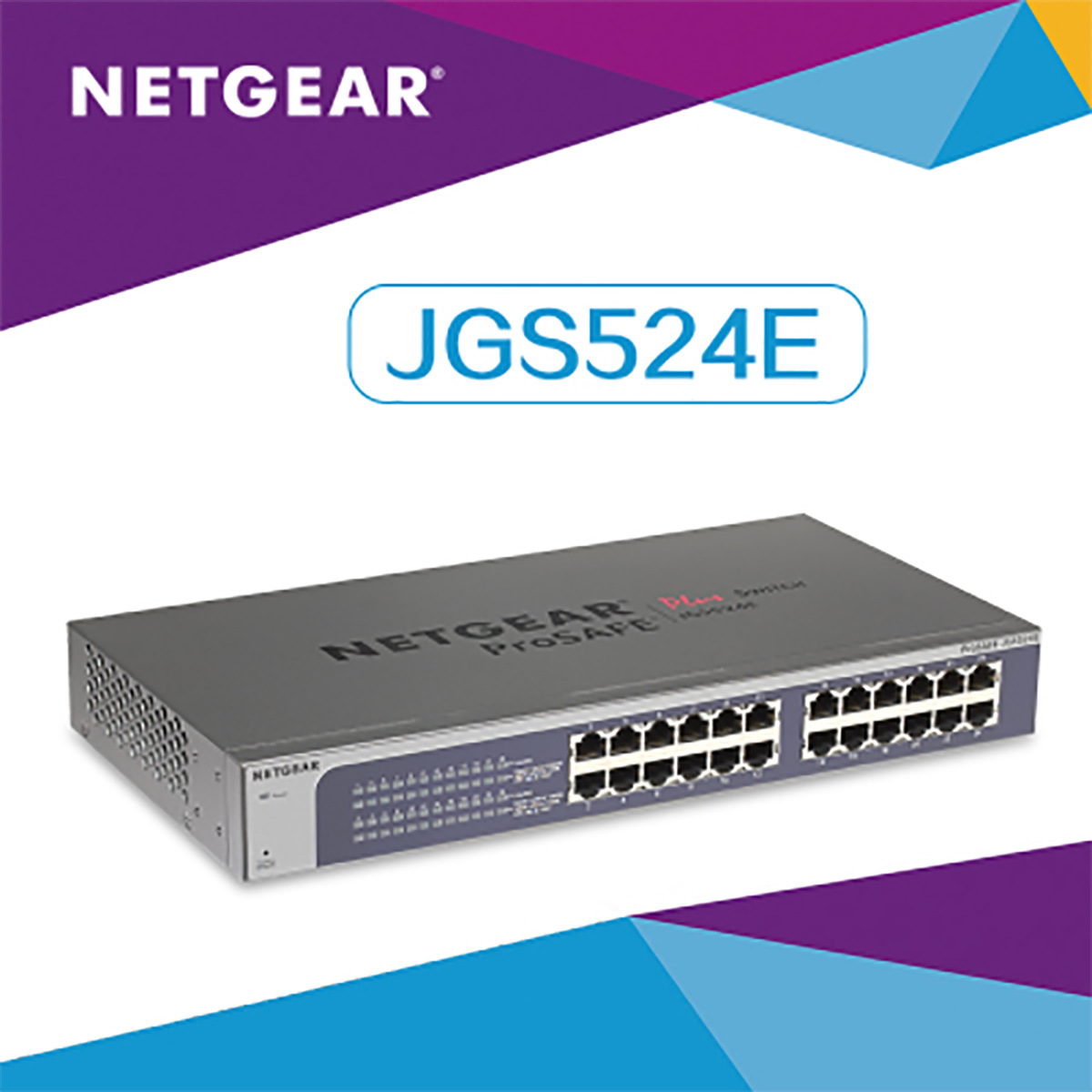 цена на POE switch Netgear netgear JGS524E 24 port full Gigabit switch iron shell network monitoring switch