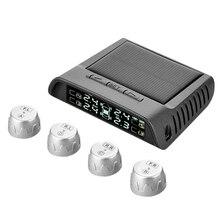 TP810 Solaire Puissance De Voiture Système 5 V 4 Capteur de Surveillance de Pression Des Pneus TPMS De Voiture Détecteur Surveillance Intelligente LED Affichage