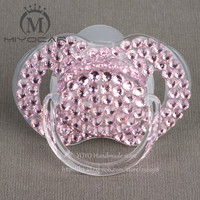 Beautiful Handmade Rhinestone Lovely Pacifier Chupeta Pacifier Clip Nipple BPA 0