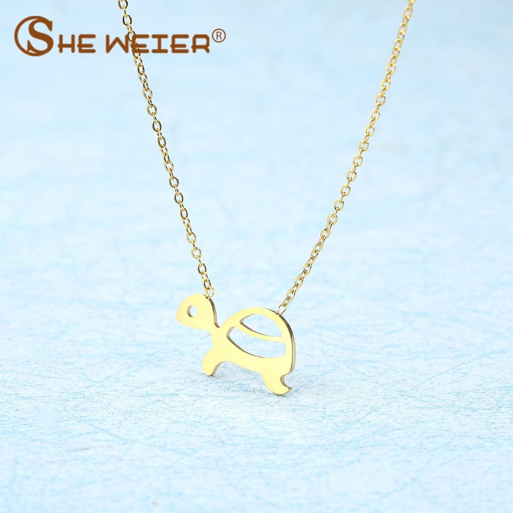 SHE WEIER fashion chain chocker choker animal best friends pendant necklace women jewellery stainless steel jewlery neckless