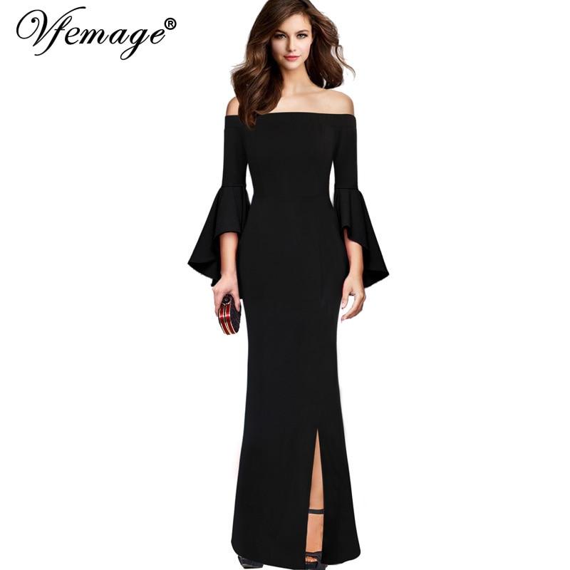 Aliexpress Com Buy Elegant Flare Sleeve Wedding Dress: Aliexpress.com : Buy Vfemage Womens Sexy Elegant Flare