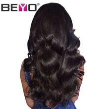 Glueless Синтетические волосы на кружеве Человеческие волосы Искусственные парики с ребенком волос Для тела волна Кружева Искусственные парики бразильские волосы Искусственные парики для черный Для женщин-Remy beyo волос