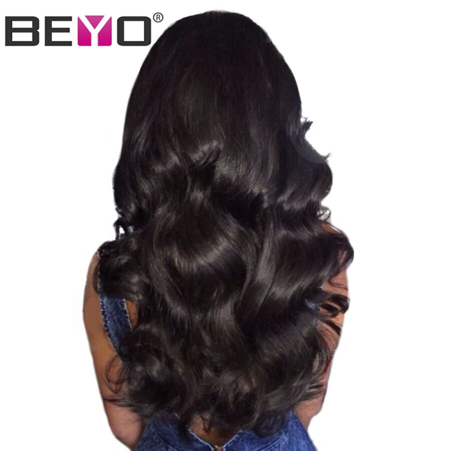 Glueless Lace Front Human Hair Wigs With Baby Hair Body Wave Lace Wigs Brazilian Hair Wigs For Black Women Non-Remy...
