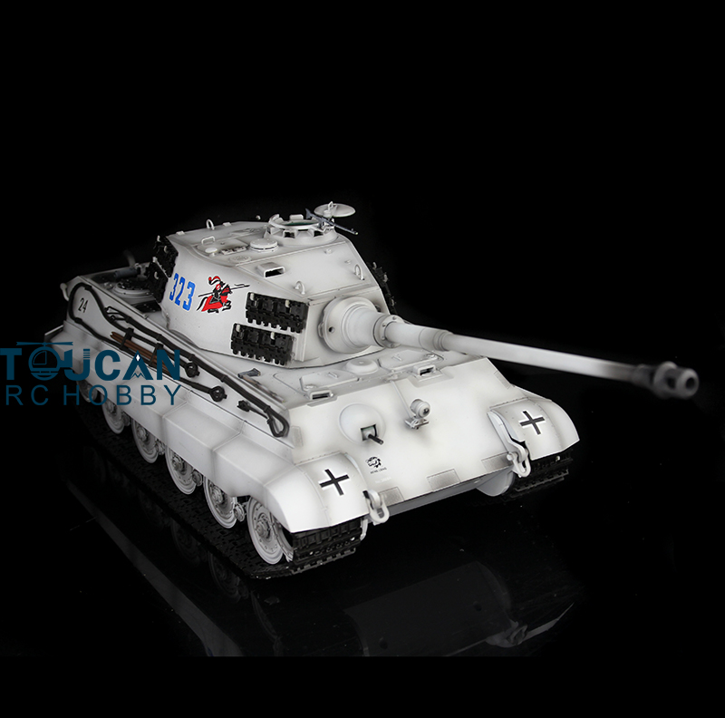 2.4Ghz HengLong 1/16 Scale Winter Snow German King Tiger II RTR RC Tank Metal Tracks Wheels 360 Degrees Rotation Turret 3888A все цены