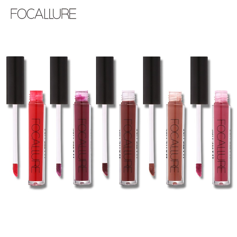 15colors Lot FOCALLURE 1Pc Matte Liquid Lipstick Hot Sexy Colors Lip Paint Matte Lipstick Waterproof Long