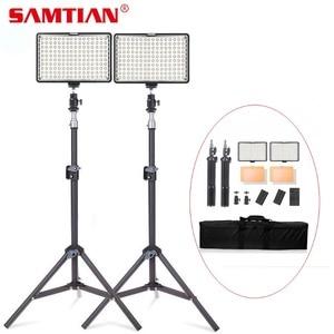 Image 1 - SAMTIAN วิดีโอ 160PCS แผงสตูดิโอแสงหรี่แสงได้ 5500K ที่มีขาตั้งกล้องสำหรับกล้องสตูดิโอ Photographiy Ligthing LED