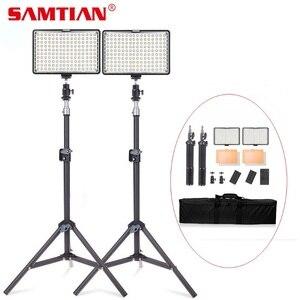 Image 1 - SAMTIAN וידאו אור 160PCS לוח אור סטודיו אור Dimmable 5500K עם חצובה עבור מצלמה סטודיו אור Photographiy Ligthing LED