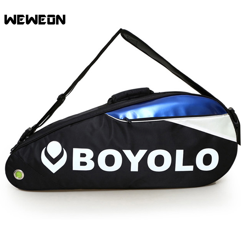 New Style Badminton Racket Bag Professional Tennis Racquet Backpack with Shoes Compartment Sports Tennis Backpack for 6 Rackets