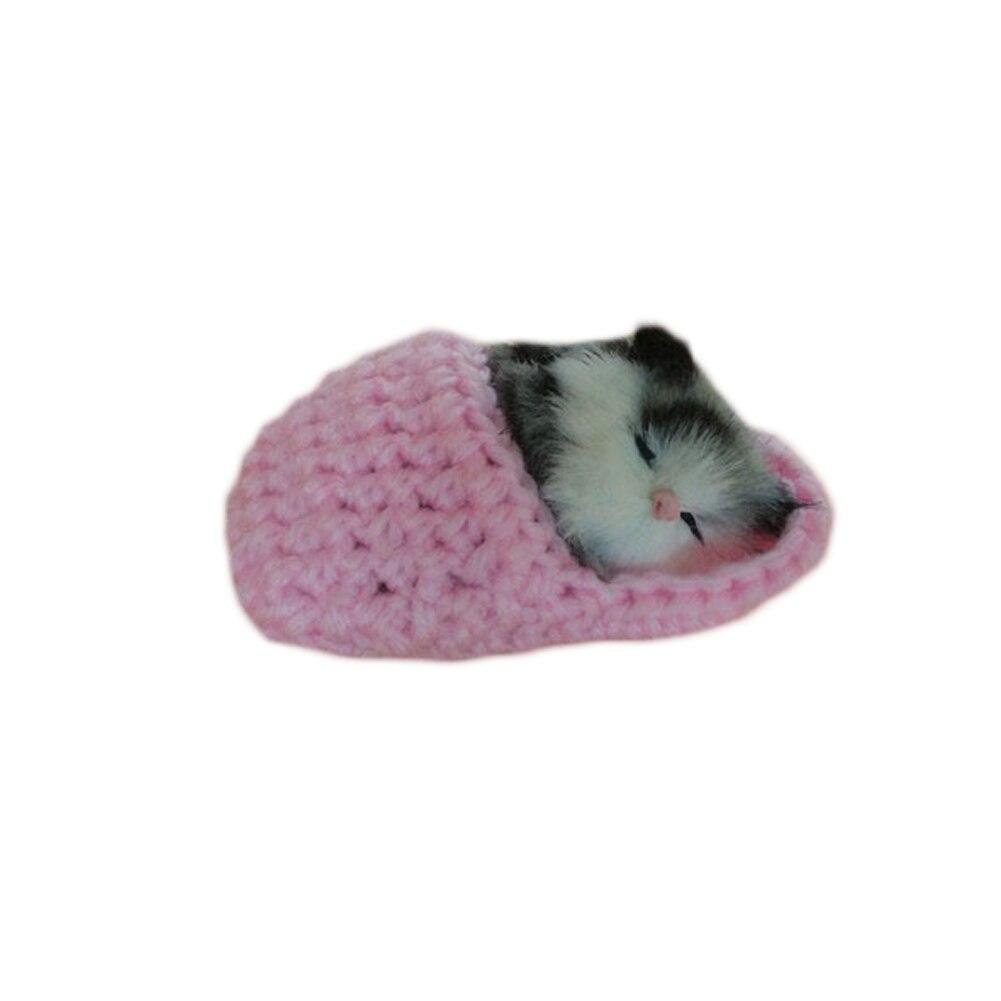 Sleeping Cat Furry Fur Cat Sound Miaow Cat Model Creative Car Ornament Layout Decoration Gift