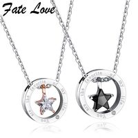 Your Are The Favorite Of My Life Couple Necklaces Stainless Steel Jewelry Collier Pendant Necklace Jewellery