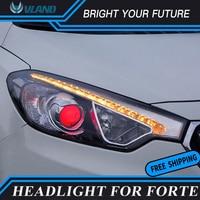 2Pcs Head Lamp For KIA Forte LED Headlights 2014 2016 K3 Head Lamp Bi xenon Lens Projector LED DRL