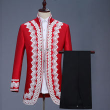 Мужские дворцовые платья в стиле ретро красный костюм принца