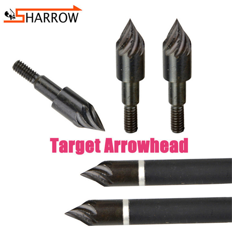 50/100pcs 100grain Broadhead Arrowhead Insert Target Rotation Arrow Point Tips For Hunting Sports Shooting Archery Accessories