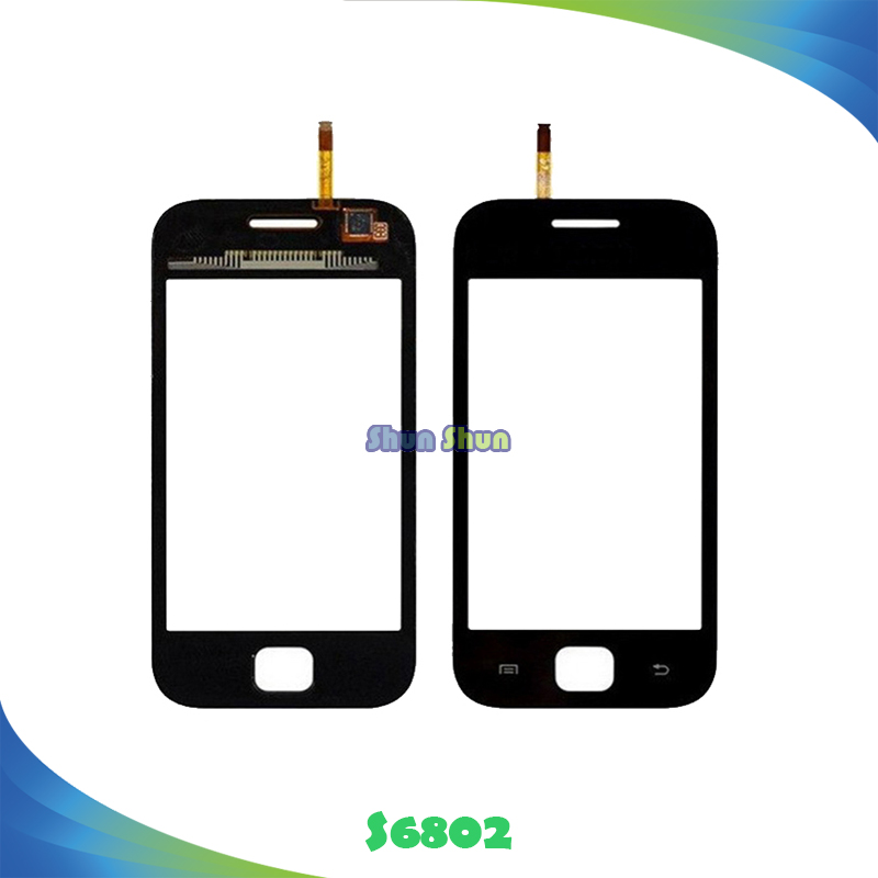 10pcs S6802 Touch Panel for Samsung Galaxy Ace DUOS GT-S6802 S6802 Touch Screen Digitizer Sensor Front Glass Lens Black White