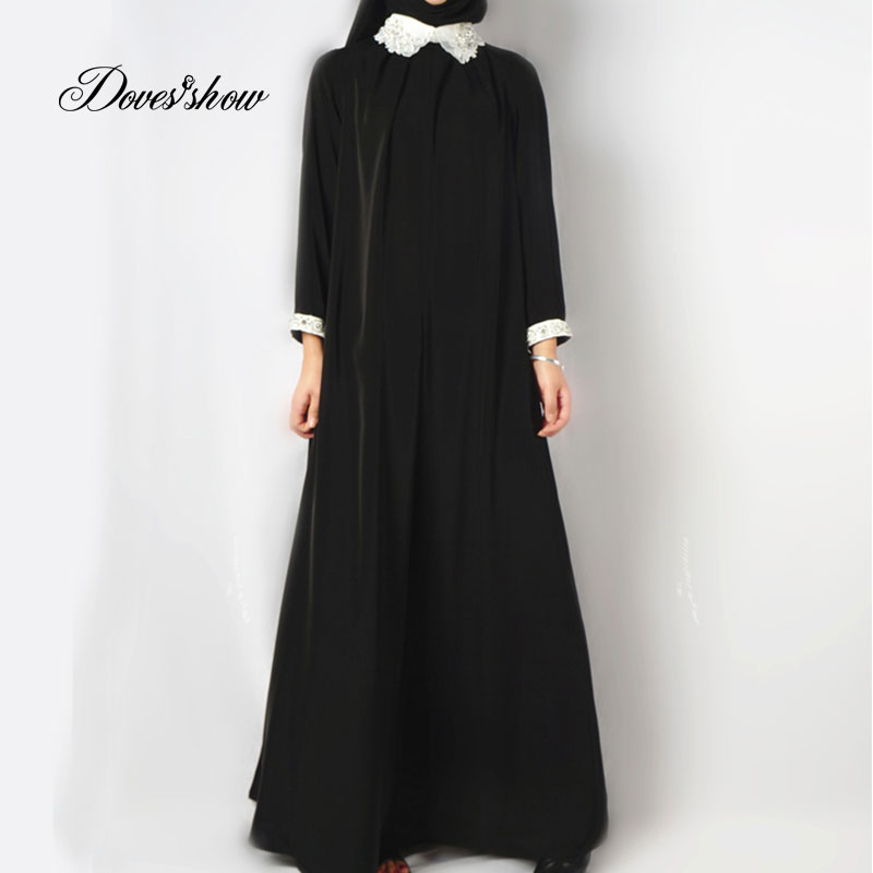 2016 fashion abaya muslim girl long dress turkish women clothing