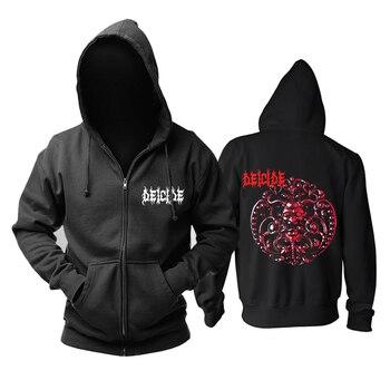 Bloodhoof DEICIDE  Death Metal Mens zipper Hoodies :S-XXL Asian Size