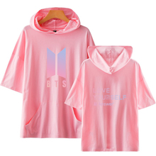 BTS Short Sleeve Hooded Top [15 Styles]