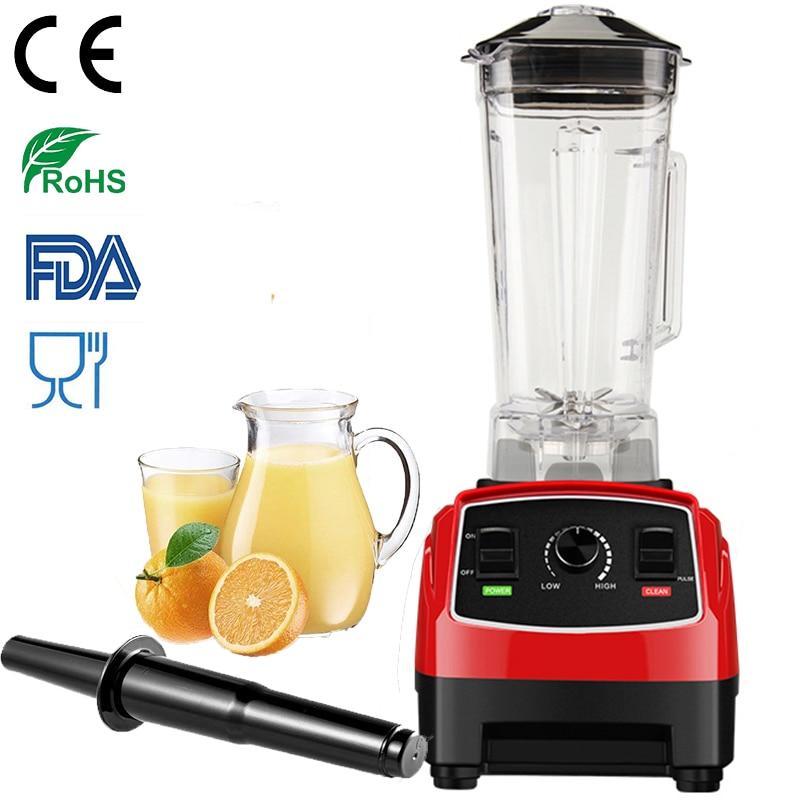 100% Do Motor ALEMÃO Tecnologia 3HP 2200 W BPA LIVRE 2L espremedor Liquidificador smoothie de gelo & Liquidificador processador de alimentos juicer Comercial