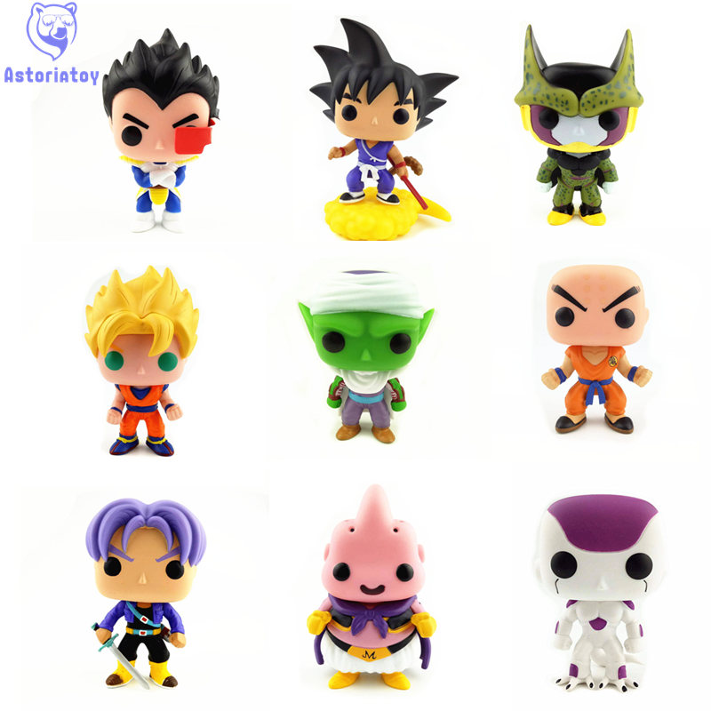 NEW 10cm Dragon Ball MAJIN BUU PICCOLO VEGETA TRUNKS PERFECT CELL action figure Bobble Head Q