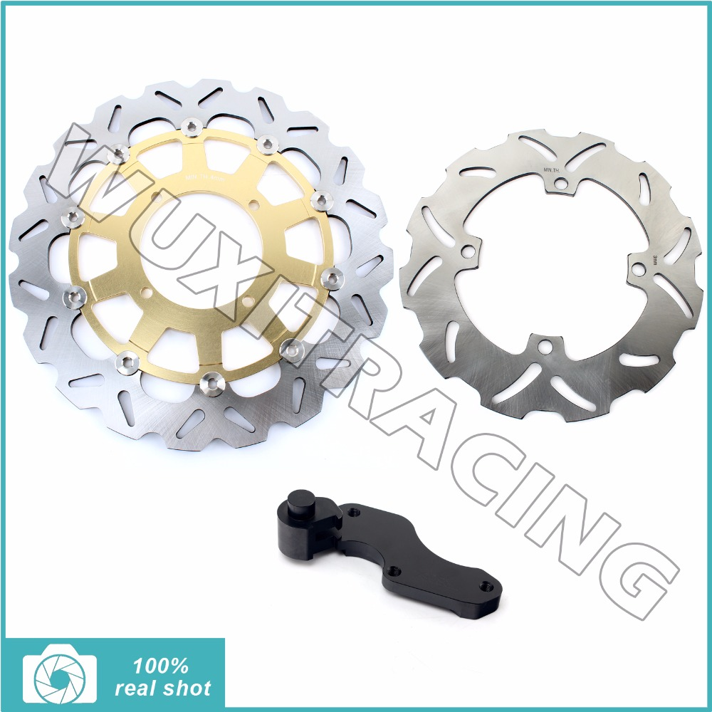 1 Set New Motorcycle Oversize 320MM  Front Rear Brake Disc Rotor Bracket Adaptor for SUZUKI RMZ 250 RMZ250 2004 2005 2006 04-06