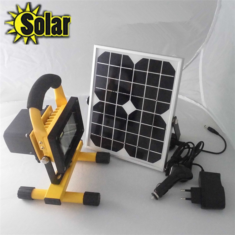 2015NEW 10W Solar panel charging led floodlight Fourth gear dimming waterproof IP65 Outdoor camping portable emergency light 1pcs portable 20w rechargeable led floodlight ac 85 265v waterproof emergency light camping outdoor lighting lamps
